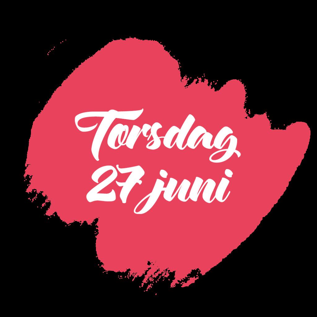 Program Västerås Cityfestival torsdag 27 juni